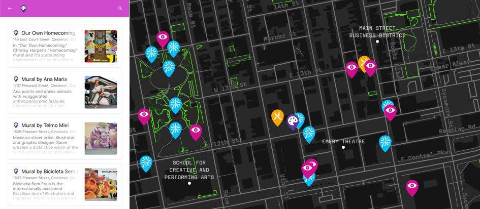 Mapme interactive platform