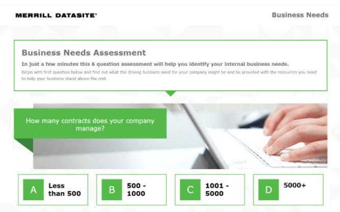 merrilç datasite interactive questionnaire