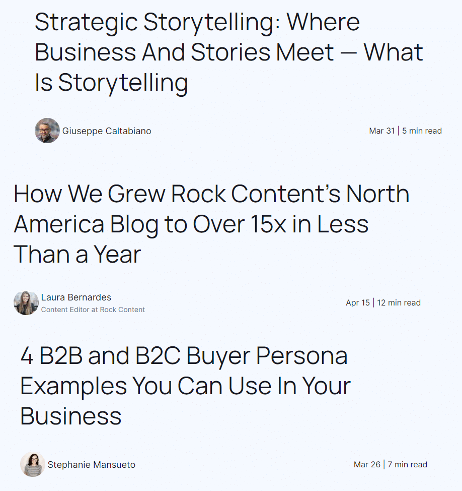 rock content writers