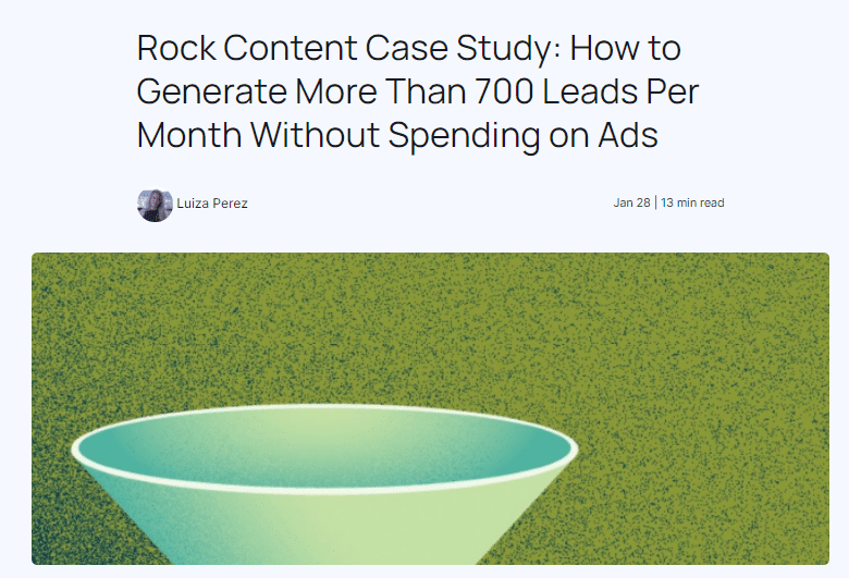 case study on how to generate leads without using ads