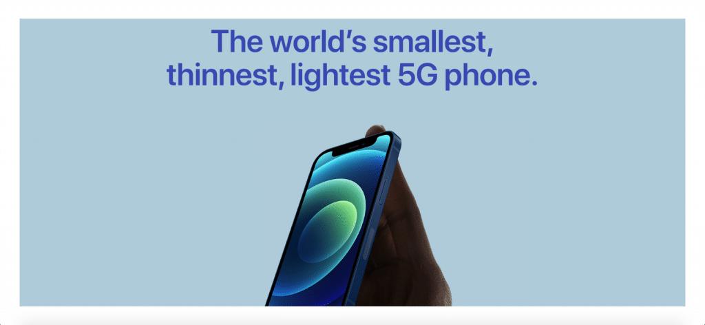 iphone on apple's website
