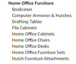Home Office Furniture category.