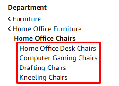 Specific keywords for Home Office Chairs
