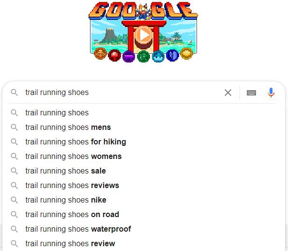 Google autocomplete example.