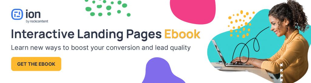 Interactive landing page ebook banner.