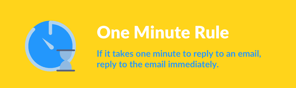 One Minute Rule.